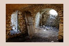 playng with light, materials and symbols (sandrorotonaria) Tags: light ciociaria alvito door ruin stone