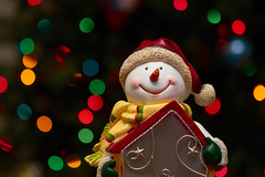 Merry Christmas! (Tk_White) Tags: nikon d500 tamron 90mm 28 snowman ornament christmas holidays bokeh balls