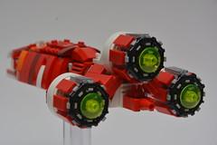 CSS-1, vue des réacteurs ! (Pierre MiniBricks) Tags: pierre minibricks lego star wars mini moc css1 menace phantom corellian transport droide invasion naboo