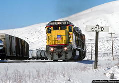 Echo Echo Echo (jamesbelmont) Tags: unionpacific echo utah evanstonsubdivision ge c408 manifest snow winter echocanyon ogcy railway