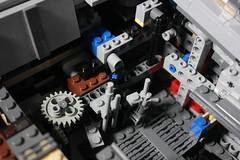 8 - Mechanism (KirtonBricks) Tags: millennium falcon lego mod moc 75192 custom star wars build building bricks gun technic gear