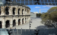 Les Arènes Romaines de Nîmes (Bernard C**) Tags: canon france occitanie languedoc gard nîmes musée romanité muséedelaromanité arènes amphithéâtre