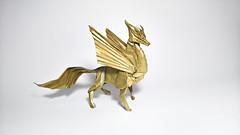 Winged Kirin - Designed by Satoshi Kamiya (Nguyễn Tuấn Tài) Tags: origami fantasy kirin