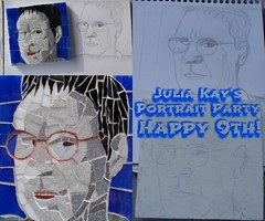 Happy Anniversary, JKPP! (Gila Mosaics n'stuff) Tags: gilamosaics portrait art artist jkpp portraitparty portraitofjuliakay