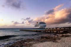 The Costa Deliziosa (Mustang Joe) Tags: public cruise d750 nikon newyears domain caribbean ship costa deliziosa harbour sunset ocean