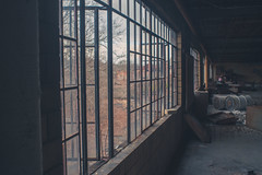 Secluded View (IAmTheSoundman) Tags: abandoned urbanexploring pennsylvania urbex chinafactory factory clutter messy sony a99 takumar vintagelens m42 manualfocus