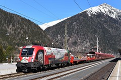 1116 159, ASTB 9609 (Böckstein > Mallnitz). Mallnitz (M. Kolenig) Tags: 1116 autoschleuse tauernbahn berg schnee mallnitz