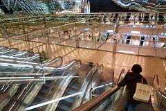 20190302_RX_02619 (NAMARA EXPRESS) Tags: travel construction structure escalator reflection light mirror marion daytime spring indoor color yurakucho tokyo japan sony rx0 dscrx0 carlzeiss tessar t 477 namaraexp