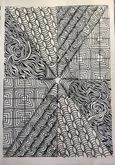 Zentangle - 01 (ronniesz) Tags: linedrawing visualart blackwhite handdrawn doodles tangles zentangleinspiredart