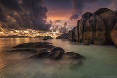 The Giant Rocks @ Anse Source d'Argent, La Digue, Seychelles (Avisekh) Tags: seychelles ladigue ansesourcedargent seascape sunset rocks goldenhour nature wwwavisekhphotographycom longexposure africa indianocean tripod nikon d850 1424 lee filters gnd rrs polarizer