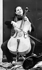 The Woman cellist at Lisbon streets (pedrosimoes7) Tags: cellist thewomancellist musician musica chiado lisbon portugal blackandwhite blackwhite blackwhitepassionaward blackandwhiteonly street streetimages streetlife streetshot