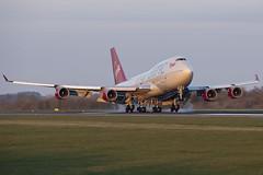 Virgin Atlantic B747 (Leechy8) Tags: manchesterairport manchester southside 05r landing boeing boeing747 b747 b747400 queen jumbo virginatlantic virgin quad