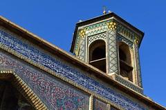 iran dec 18 (72) (gerboam) Tags: iran islamic republic december 2018 mosque onion dome tiles palm tree courtyard rain pool arch decoration islam muslim persia