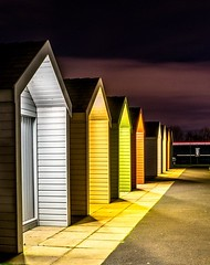 Beach huts at The Kelpies (peterbaird100) Tags: beachhuts nighttime