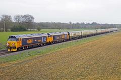 MANNINGFORD ABBOTS 230319 50049 & 50014 (SIMON A W BEESTON) Tags: manningfordabbots first gbrf gb railfreight 1z50 50049 50007 50014