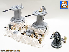 Lego-Hoth-Turret-Defense-moc-02 (baronsat) Tags: lego star wars hoth ice world planet esb rebel alliance empire base battle radar cannon turret kenner toy micro collection echo custom model moc building instructions minifigures