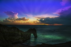 Awesome clouds and light ... (Julie Greg .. Holiday 13/12 - 31/12 2018) Tags: sky colours clouds canon sea sunset nature nautre water rock england light texture sun