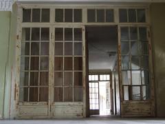 Interior of former Sanatorium Zheleznodorozhnik, 09.09.2013. (Dāvis Kļaviņš) Tags: georgia imeretiregion tsqaltubomunicipality ue refugees abkhazia sanatorium zheleznodorozhnik