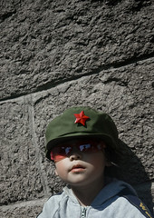 Little Girl With A Communist Cap At The Great Wall, Beijing, China (Eric Lafforgue) Tags: mg9529 army asia badaling beijing cap child childrenonly china chinese communism eastasianethnicity frontview innocence kid lookingatcamera onegirlonly oneperson outdoor pekin portrait redarmy redstar travel vertical