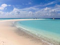 on a sandbank (° cris ° (searching for testimonials :)) Tags: ocean atoll sandbank maldives sea beach blue sky sand white maldive atollo flickraward