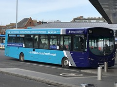 ANE 1498 @ Sunderland Park Lane Interchange (ianjpoole) Tags: arriva north east vdl sb200 wright pulsar 2 nk61czn 1498 working sapphire route 22 durham bus station sunderland park lane interchange