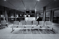 The lonesome traveller (Cybister1968) Tags: flughafen airport travel berlin tegel