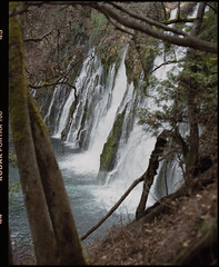 burney falls on medium format film (Garrett Meyers) Tags: pentax67 garrettmeyers garrett meyers mediumformat 120 6x7 film filmphotographer pentax waterfalls portra160 kodakportra160 kodak kodakfilm water flow river northerncalifornia burneyfalls creek beautiful landscape