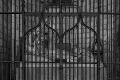 Barcelona Cathedral (michael_hamburg69) Tags: barcelona spain spanien barcelone barcelonés barcelonesa barcellona espagne españa spagna xībānyá katalonien catalonia cataluña lacatedraldelasantacreuisantaeulàlia cathedral kathedrale kirche pladelaseu gothic gotisch barrigòtic catedraldelasantacruzysantaeulalia lenterramentdecrist diebeerdigungchristi elentierrodecristo sculptor bildhauer künstler artist josepllimona 1920 theburialofchrist tombofthesanllehyfamily sculpture skulptur male female statuarygroup cage käfig