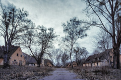 Road of Desolation (Ralph Graef) Tags: desolation decay dystopia disused street road winter abandoned drabness dull dreary drab melancholia house settlement