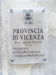 Historic Vicenza - Beautiful Italian City - February 2019 (sean and nina) Tags: vicenza italy italia italian eu europe european city culture buildings architecture history historic historical street people persons place old ancient town memorials monuments statue sun shade shine sunshine tablet plaque windows balconies river water sign tower flags emblems outdoor outside columns building pedestrian area zone centre walkway pavement