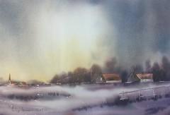 Paysage hivernal (Demars Philippe) Tags: neige edo paysage aquarelle watercolor