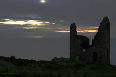 3K003308a_C (Kernowfile) Tags: pentax cornwall cornish botallack whealedward grass bushes sea sky reflections clouds sunlight enginehouse