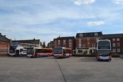 Centrebus 671 YH63CXB & 549 PAZ9456 (Will Swain) Tags: grantham 4th august 2018 bus buses transport travel uk britain vehicle vehicles county country england english centrebus 671 yh63cxb 549 paz9456