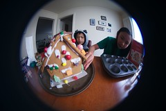 4993 Whole Way (mliu92) Tags: home sanmateo gingerbread house candy frosting calcifer son figgy daughter belomo peleng 835