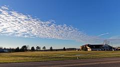 Diagonal Sky (joeldinda) Tags: sky cloud village michigan mulliken 4307 december mullikenmethodist tree lawn 2018 canon g9x powershotg9xii