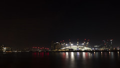 Millenium-dome (Peter Warne-Epping Forest) Tags: london uk peterwarne architecture dockland canarywharf docks reflections nightphotography night longexposures