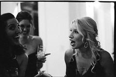 LisaJason10.13.18_426 (Johnny Martyr) Tags: nikon nikkor ilford ilforddelta3200 6400iso pushprocess pushprocessing availablelight nikonfm2n nikkor50mm18ai kodakhc110 kodakhc110b dance dancing laugh laughin laughing happy excited happiness excitement drunk drinking reception party wedding weddingphotojournalistmaryland weddingphotographerfrederickmd weddingphotographer weddingphotographyfilm blackandwhitefilm blackandwhite bw grain grainy girl woman she her beautiful moment gorgeous lowlight shallowdepthoffield shallowdof contrast dress lips teeth form portrait candid photojournalism documentary maryland
