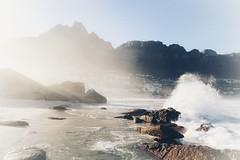 Cape Town (FlavioSarescia) Tags: hss capetown southafrica campsbay beach sea sunrise sunbeam africa mountains light lights beam beammeup sony kapstadt reisen ferien urlaub holidays ocean surf surfing rocks coast coastal
