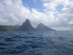 Soufriere, St Lucia - The Pitons (h_savill) Tags: 2019 february feb holiday travel vacation tourist trip explore worldwide st lucia caribbean antilles windward isle soufriere piton view landscape beach sea water marine anse chastanet ansechastanet sand boat stlucia