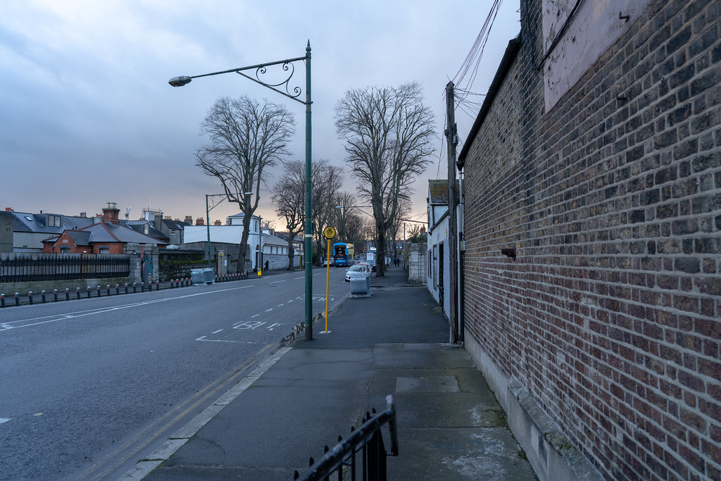 THE DAY BEFORE THE DUBLIN ST. PATRICK'S DAY PARADE [THE STAGING AREA FOR THE PARADE - LIMITED ACCESS TOMORROW TO THIS AREA OF THE CITY]-150033