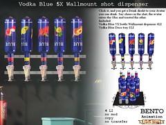 No59 Vodka Blue Wallmount dispenser (Caroline Planer) Tags: vodka drink bottle glass shot no59 dispenser alcohol liquor