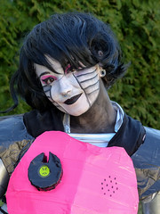 "Mettaton EX - From RPG ""Undertale."" (J Wells S) Tags: portrait candidportrait prettyyoungwoman makeup costume cosplay dressup whiteface facepaint animaticcon holidayinneastgate eastgate cincinnati ohio mettatonex rpgundertale"