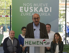 Mitina. Andoni Ortuzar, Almudena Otaola, Mikel Legarda. Laudio (EAJ-PNV) Tags: eajpnv euzkoalderdijeltzalea euzkadi partidonacionalistavasco basquecountry basque basquenationalparty hemeneajpnv laudio mikellegarda