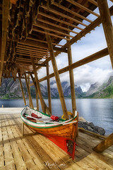 The boat (marko.erman) Tags: lofoten norway nordland reine village fishermen sea mountains water clouds beautiful sony scenic idyllic nature outdoor outside travel popular quiet serenity drying flake pure transparency landscape nordic steep sunny montagne ciel paysage eau lac champ baie fish hut