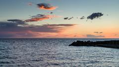 TorreArchirafiAlba-4-HDR (JoySadaro) Tags: alba arancio blue cloud dawn mare nuvole orange sea sun