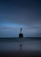 Lighthouse (PeskyMesky) Tags: aberdeenshire scotland rattrayhead lighthouse landscape longexposure water sea ocean blue canon canon5d eos