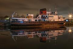 MV Royal Daffodil (gmorriswk) Tags: birkenhead england unitedkingdom gb mersey ferry ferries royal daffodil overchurch mv boat ship reflection reflections abandoned wallasey docks
