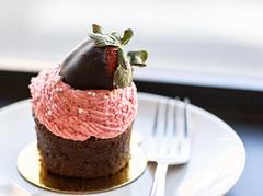 Day 43 of 365 - Sweet (gcarmilla) Tags: cupcake strawberry fragola rosa pink dolce sweet fork forchetta bokeh 365 365project sugar fresa dessert snack
