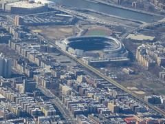 New Yankee Stadium And Surrounding Area From Above; Bronx, New York (hogophotoNY) Tags: plane southwestairlines flight flying fromabove nyc usa us hogo hogophoto baseball baseballstadium stadium yankeestadium newyork