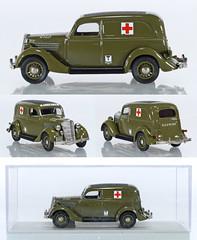 REX-FordV8-Ambulance (adrianz toyz) Tags: diecast toy model car 143 scale adrianztoyz rextoys 1935 ford v8 van rex toys ambulance military us army france